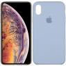 Чехол силиконовый для iPhone Xs Max Голубой