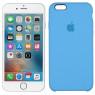 Чехол силиконовый для iPhone 6/6s Небесно синий