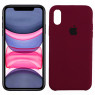 Чехол силиконовый для iPhone X/Xs Марсала