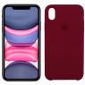 Чехол силиконовый для iPhone Xr Марсала