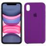 Чехол силиконовый для iPhone X/Xs Светло Фиолетовый