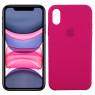 Чехол силиконовый для iPhone X/Xs Малиновый