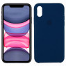 Чехол силиконовый для iPhone X/Xs Индиго