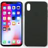 Чехол силиконовый для iPhone Xr Тёмно Серый