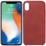 Чехол X-Level Vintage series для iPhone X Red