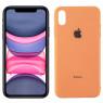 Чехол U-Like Glossy Logo series для iPhone Xs Peach