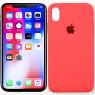 Чехол силиконовый для iPhone Xr Ярко Розовый
