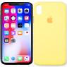 Чехол силиконовый для iPhone X/Xs Светло Жёлтый