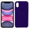 Чехол силиконовый для iPhone X/Xs Фиолетовый
