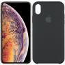 Чехол силиконовый для iPhone X/Xs Чёрный FULL