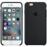 Чехол силиконовый для iPhone 6/6s Чёрный