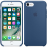 Чехол силиконовый для iPhone 7/8 Морской синий