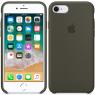 Чехол силиконовый для iPhone 7/8 Оливковый