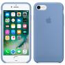Чехол силиконовый для iPhone 7/8 Светло Голубой
