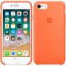 Чехол силиконовый для iPhone 7/8 Светло оранжевый