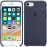 Чехол силиконовый iPhone 7/8 Темно Синий