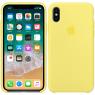 Чехол силиконовый для iPhone X/Xs Желтый