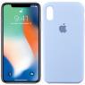 Чехол силиконовый для iPhone X/Xs Морской Синий