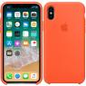 Чехол силиконовый для iPhone X/Xs Оранжевый