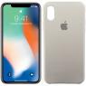 Чехол силиконовый для iPhone X/Xs Пепельно Серый
