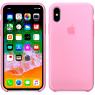 Чехол силиконовый для iPhone X/Xs Розовый