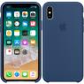 Чехол силиконовый для iPhone X/Xs Синий