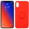 Чехол Ring Color для iPhone X/Xs Красный