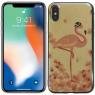 Чехол U-Like Picture series для iPhone X Flamingo