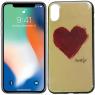 Чехол U-Like Picture series для iPhone X Heart Blue