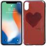 Чехол U-Like Picture series для iPhone X Heart Pink