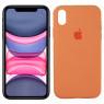 Чехол силиконовый для iPhone Xr Светло-персиковый FULL