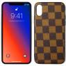 Чехол U-like Fashion series для iPhone Xs LV Squares Brown