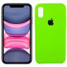 Чехол силиконовый для iPhone X/Xs Салатовый