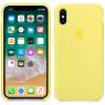 Чехол силиконовый для iPhone X/Xs Лимонный