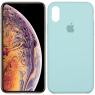 Чехол силиконовый для iPhone Xr Минтоловый